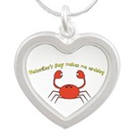 Valentines Day Makes Me Crabby Necklaces