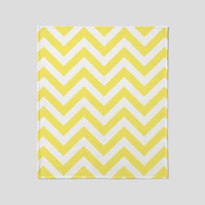Yellow and White chevrons 6 Throw Blanket