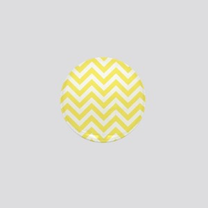 Yellow and White chevrons 6 Mini Button