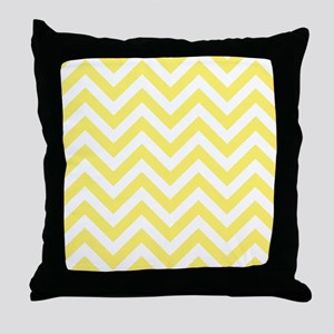 Yellow and White chevrons 6 Throw Pillow
