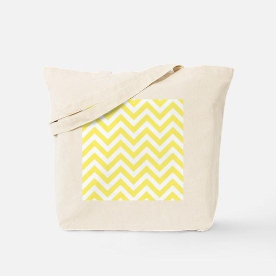 Yellow and White chevrons 6 Tote Bag