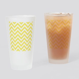 Yellow and White chevrons 6 Drinking Glass