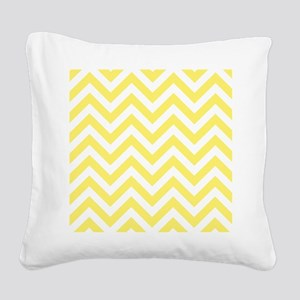 Yellow and White chevrons 6 Square Canvas Pillow