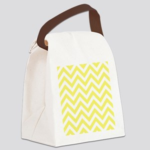 Yellow and White chevrons 6 Canvas Lunch Bag