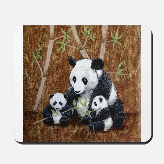 StephanieAM Panda and Cubs Mousepad