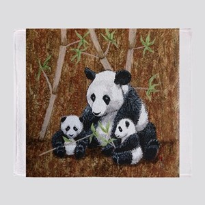 StephanieAM Panda and Cubs Throw Blanket