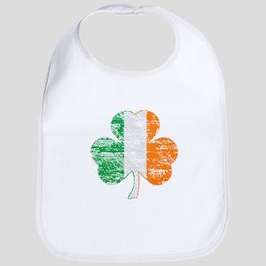 Vintage Irish Flag Shamrock Bib