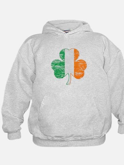 Vintage Irish Flag Shamrock Hoodie