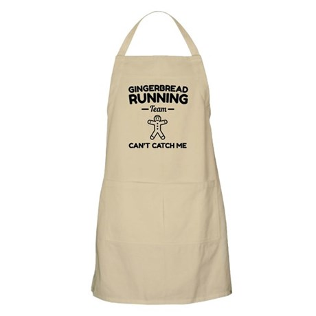 Gingerbread running team cant catch me Light Apron