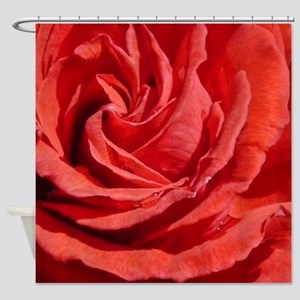 Heart of a Red Rose Shower Curtain