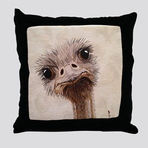 StephanieAM Ostrich Throw Pillow