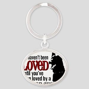 GSD Love Oval Keychain