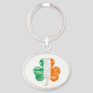 Vintage Irish Flag Shamrock Keychains
