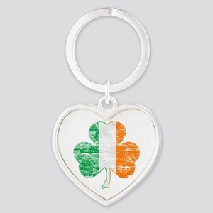 Vintage Irish Flag Shamrock Keychains