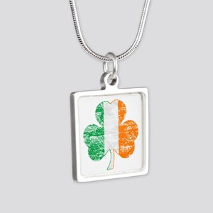 Vintage Irish Flag Shamrock Necklaces