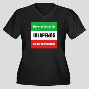 Jalapeno Lover Women's Plus Size V-Neck Dark T-Shi