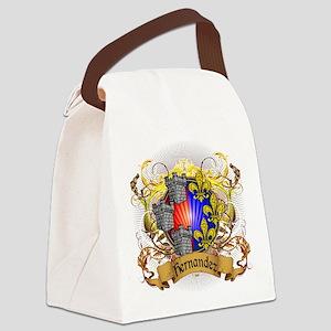 Hernandez Family Crest Canvas Lunch Bag