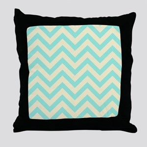 Yellow and turquoise chevrons 1 Throw Pillow