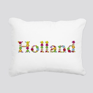 Holland Bright Flowers Rectangular Canvas Pillow