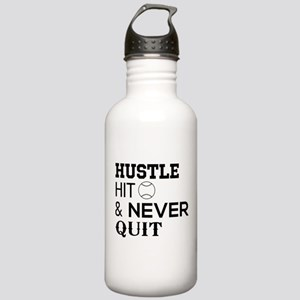 Hustle hit and never quit Water Bottle