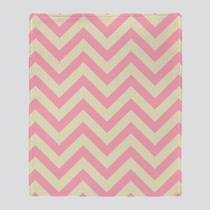 Yellow and pink chevrons 1 Throw Blanket
