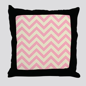 Yellow and pink chevrons 1 Throw Pillow