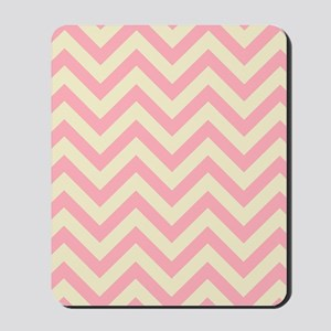 Yellow and pink chevrons 1 Mousepad