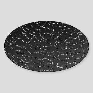 Shimmering Spiderweb narrow Sticker (Oval)
