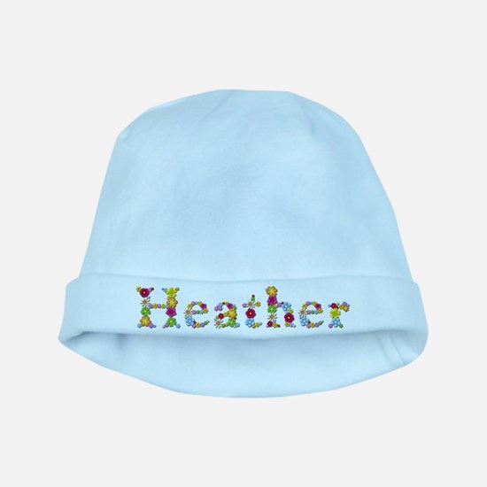 Heather Bright Flowers baby hat