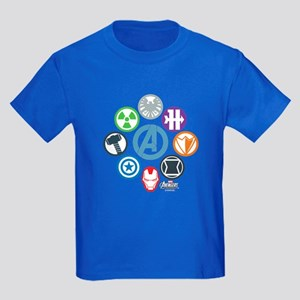 Avengers Icons Kids Dark T-Shirt