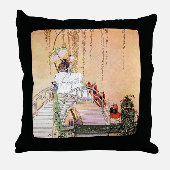 Moon Bridge in the Chinese Garden Throw Pillow
