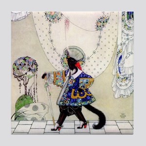 Puss In Boots by Kay Nielsen Tile Coaster