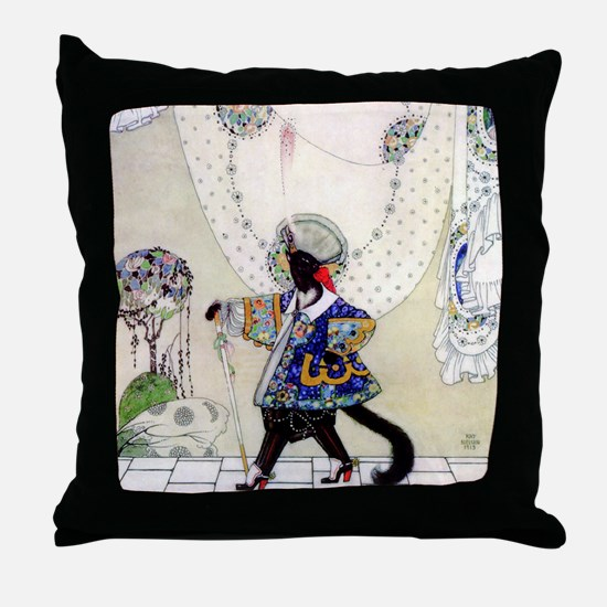 Puss In Boots by Kay Nielsen Throw Pillow