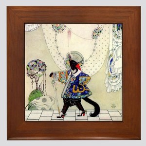 Puss In Boots by Kay Nielsen Framed Tile