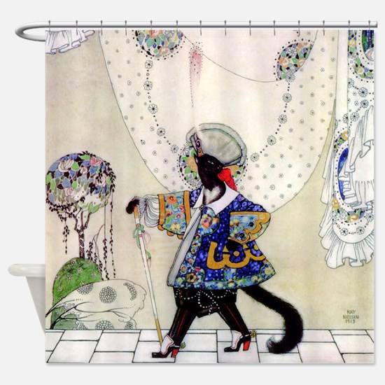 Puss In Boots by Kay Nielsen Shower Curtain