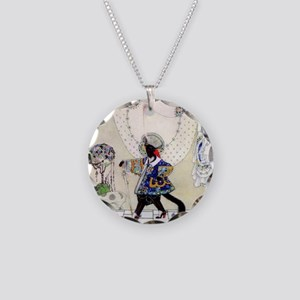 Puss In Boots by Kay Nielsen Necklace Circle Charm