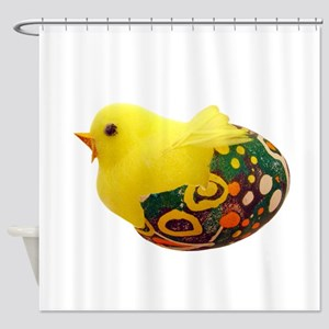 Chick in Egg Shower Curtain