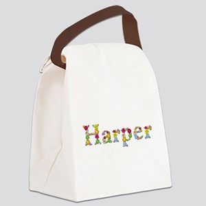 Harper Bright Flowers Canvas Lunch Bag
