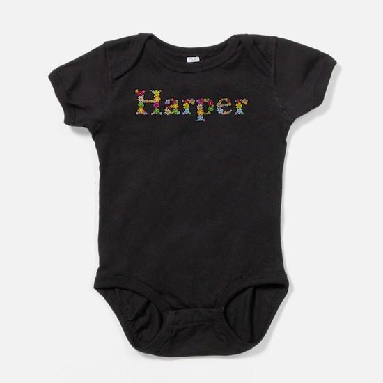 Harper Bright Flowers Baby Bodysuit