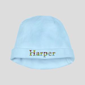 Harper Bright Flowers baby hat
