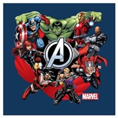 Avengers Group Wall Art Framed Print