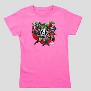 Avengers Group Girl's Tee
