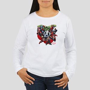 Avengers Group Women's Long Sleeve T-Shirt