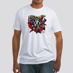 Avengers Group Fitted T-Shirt