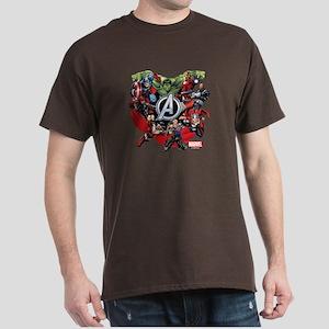 Avengers Group Dark T-Shirt