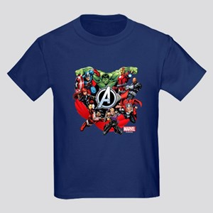 Avengers Group Kids Dark T-Shirt
