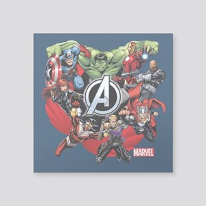 "Avengers Group Square Sticker 3"" x 3"""