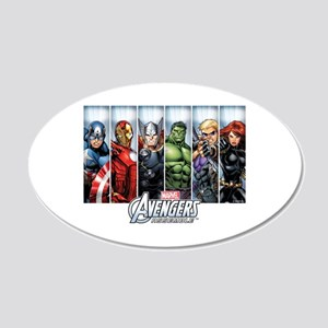 Avengers Assemble 20x12 Oval Wall Decal
