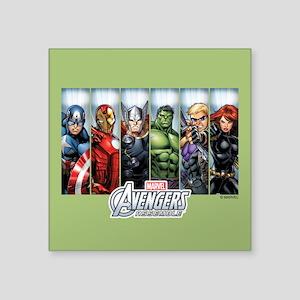"Avengers Assemble Square Sticker 3"" x 3"""