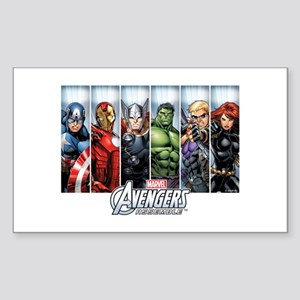 Avengers Assemble Sticker (Rectangle)